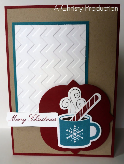 Diy hot chocolate christmas card