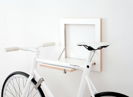 Diy inspired fold down bike rack