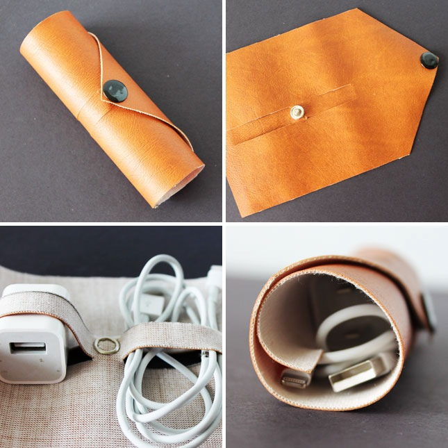Diy leather cord roll