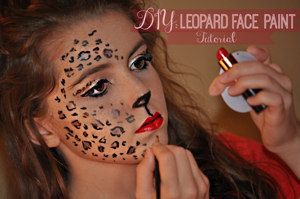 Diy leopard face paint
