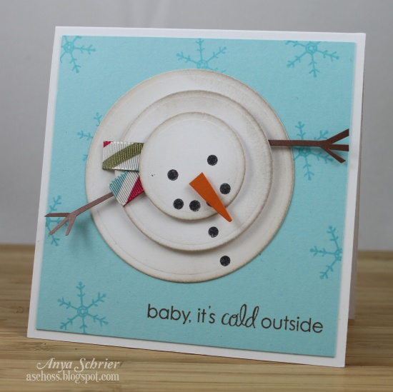 Diy melting snowman card