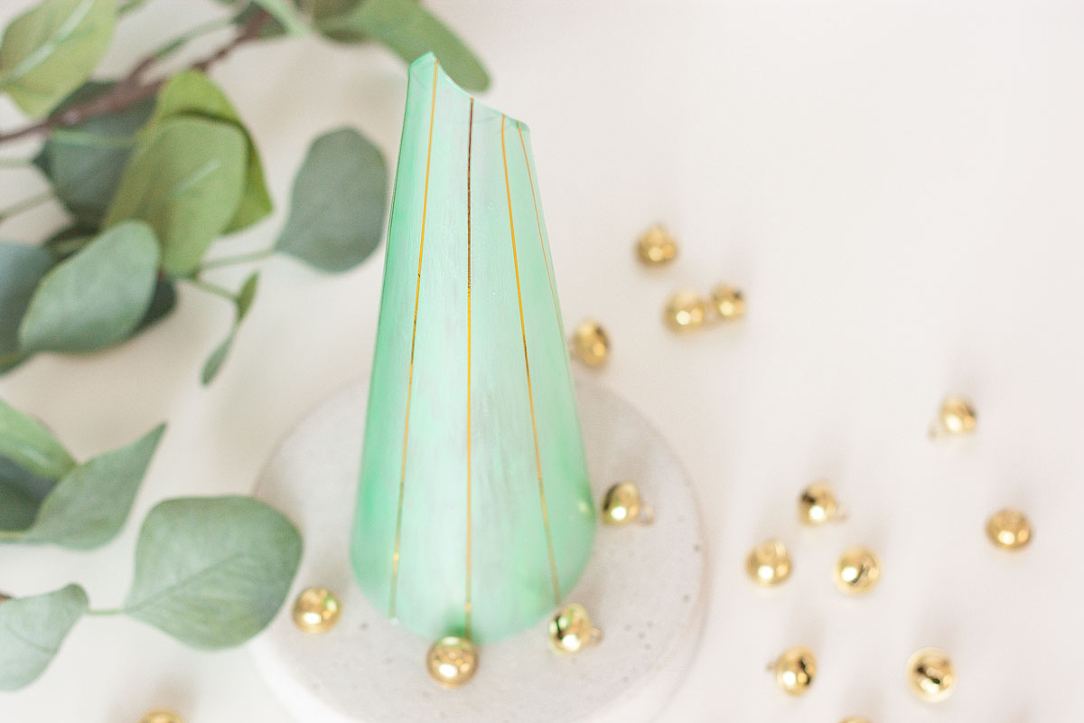 Diy modern cone christmas tree set1