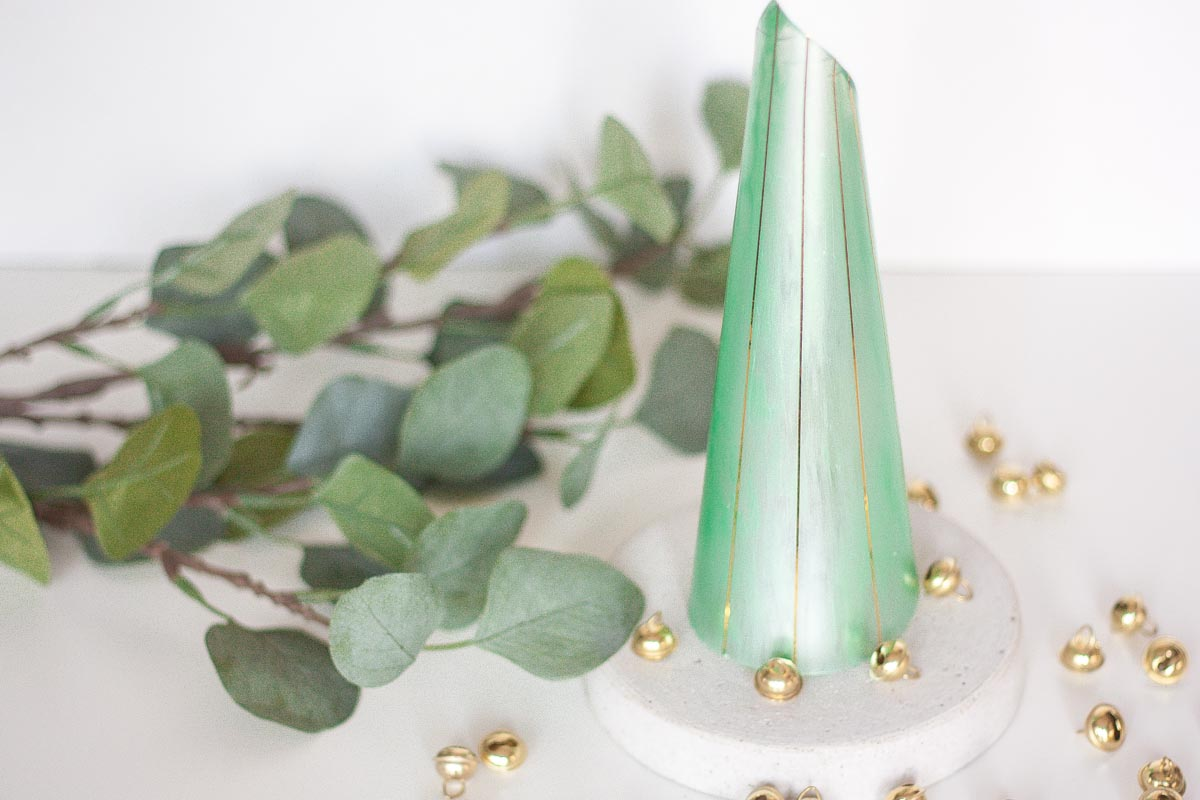 Diy modern cone christmas tree set2