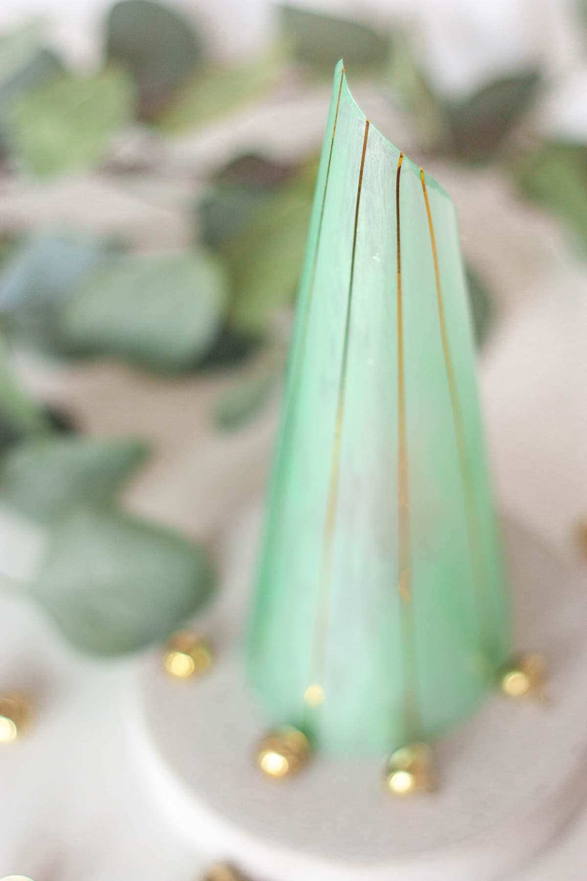 Diy modern cone christmas tree set3