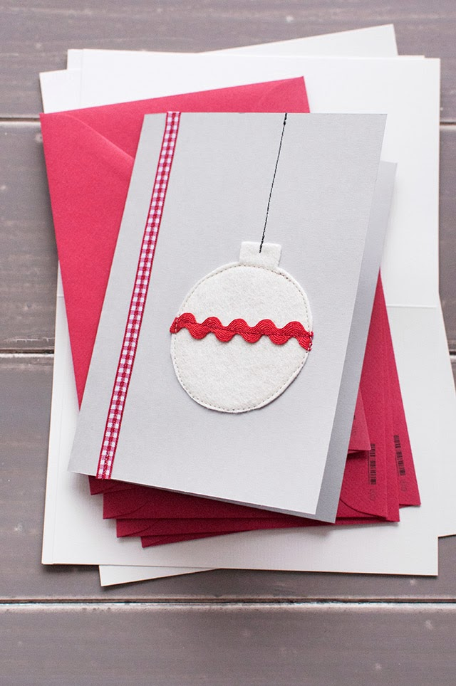 Diy ornament christmas cards