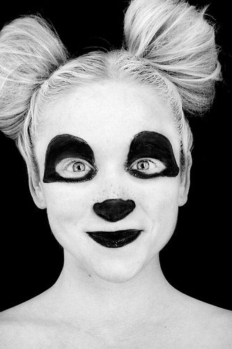Diy panda face paint