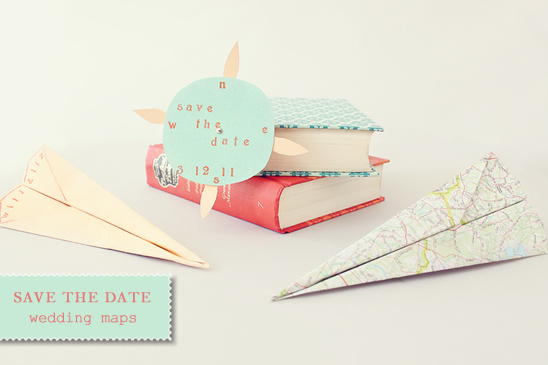 Diy paper airplane save the date
