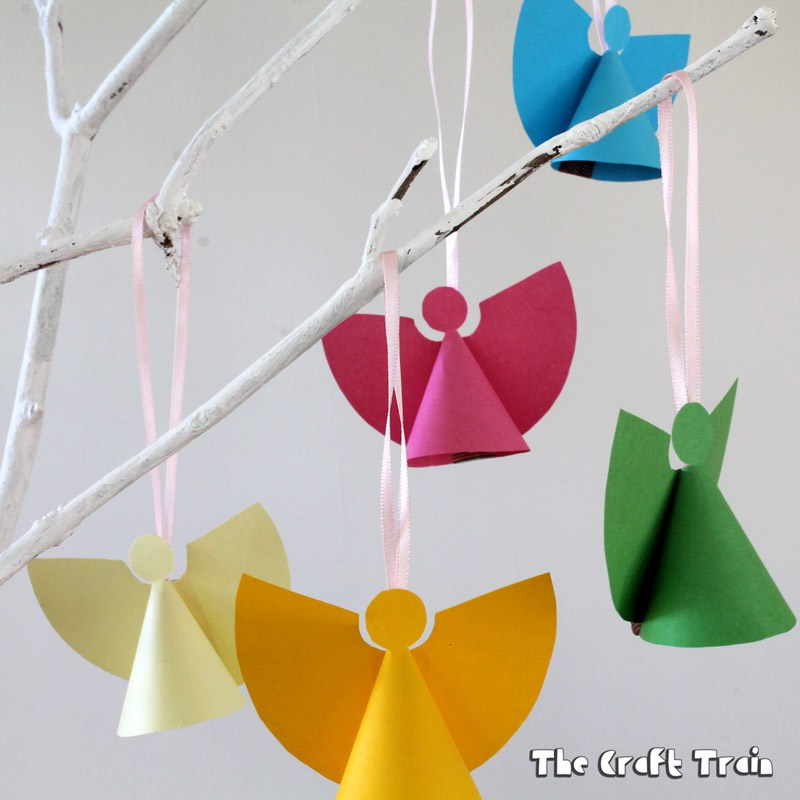 diy paper angel ornament