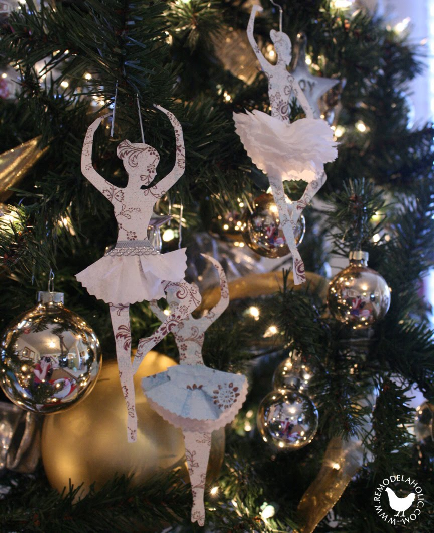 diy paper ballerine ornaments