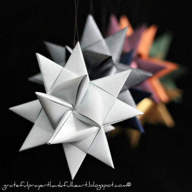Diy paper german stars