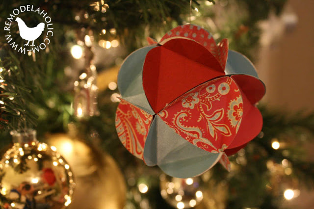 Diy paper layered ornaments