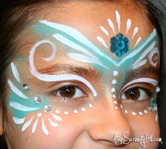 Diy princess fairy face paint