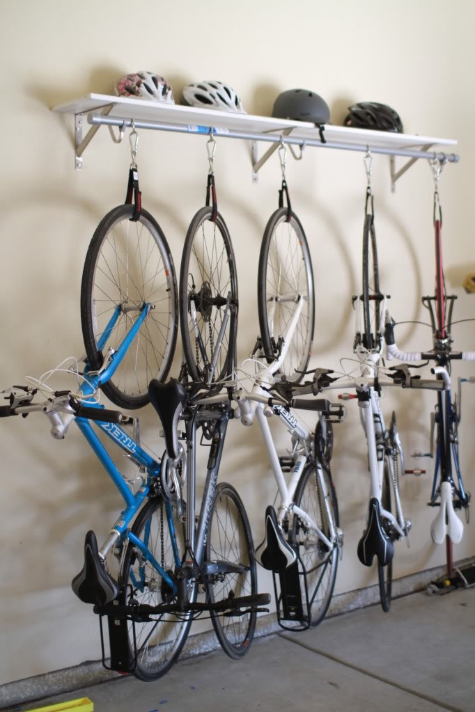 rack ceiling for bike diy garage tire storage in canadian bicycle