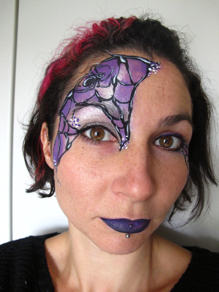Diy spider web face paint