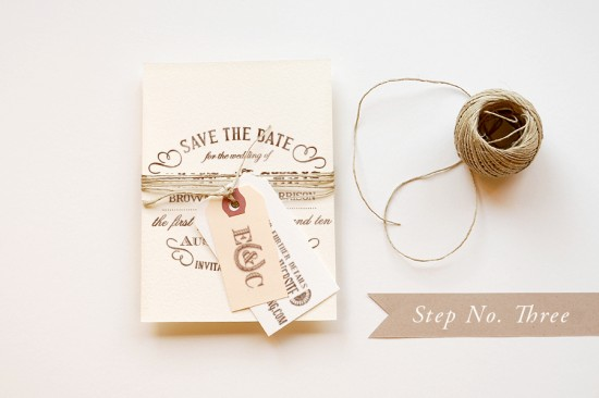 Diy stamp save the date