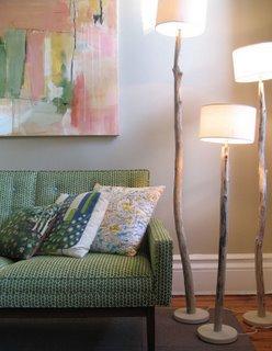 Diy stick floor lamp