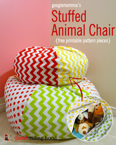 Diy stuffed animal bean bag chair