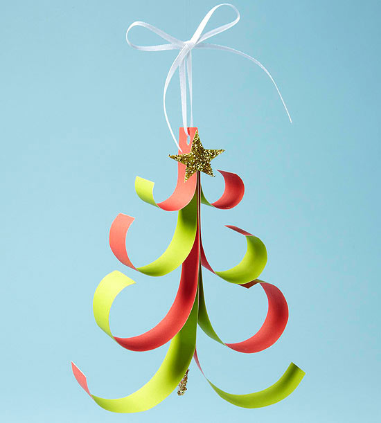 Diy whimsy paper tree ornament