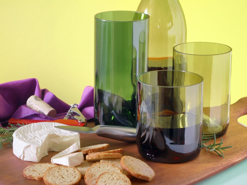 Diy wine bottle tumbler