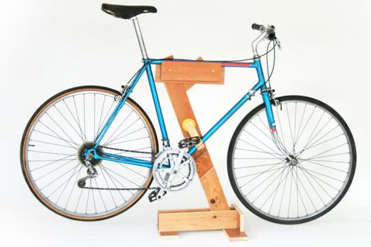Diy wooden bike rack