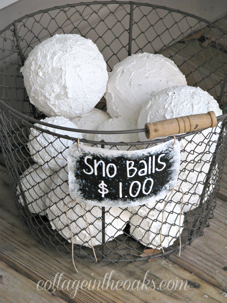 Faux snow balls diy