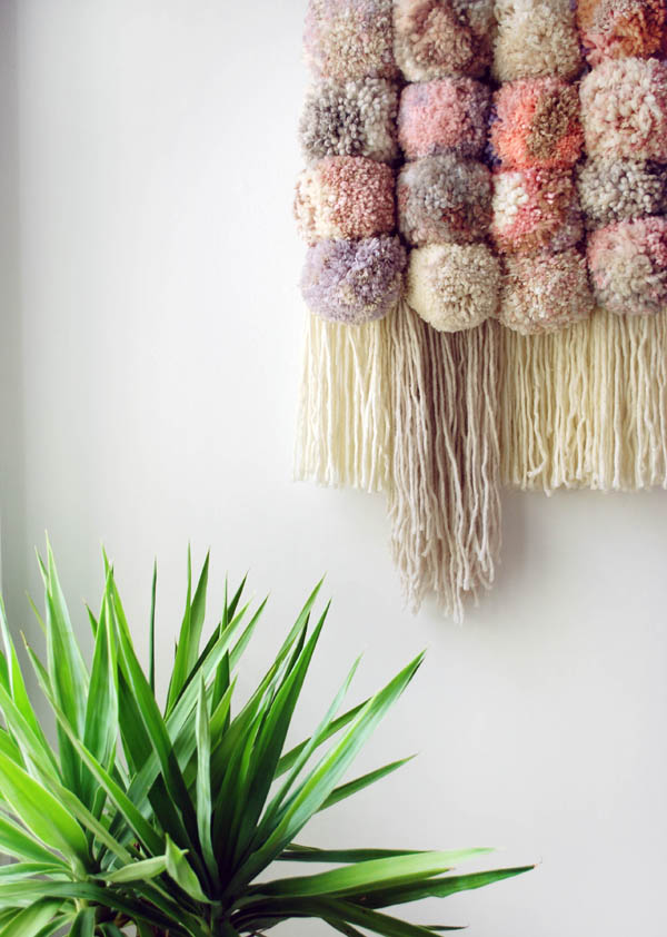 25 diy yarn wall hangings for Wall hanging images