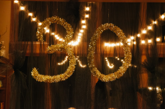 Golden accented 30th birthday