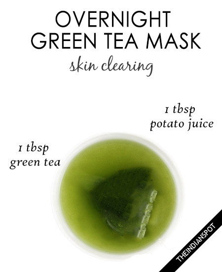 Green tea face mask diy