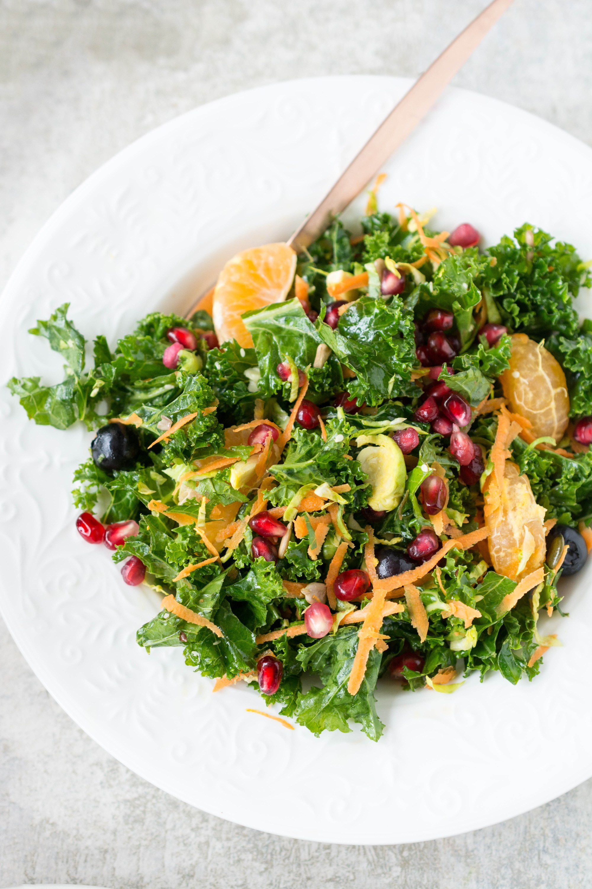 Kale clementine winter salad