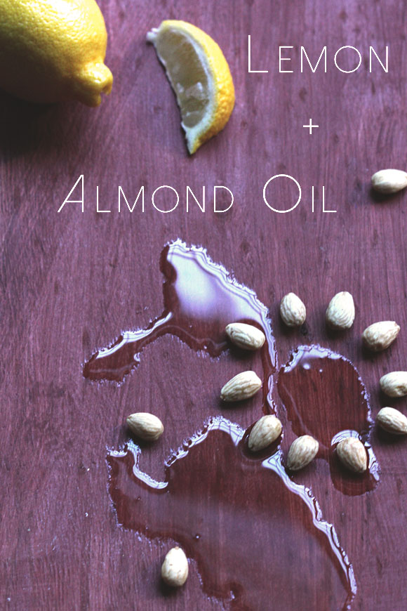 Leom and almond oil face mask