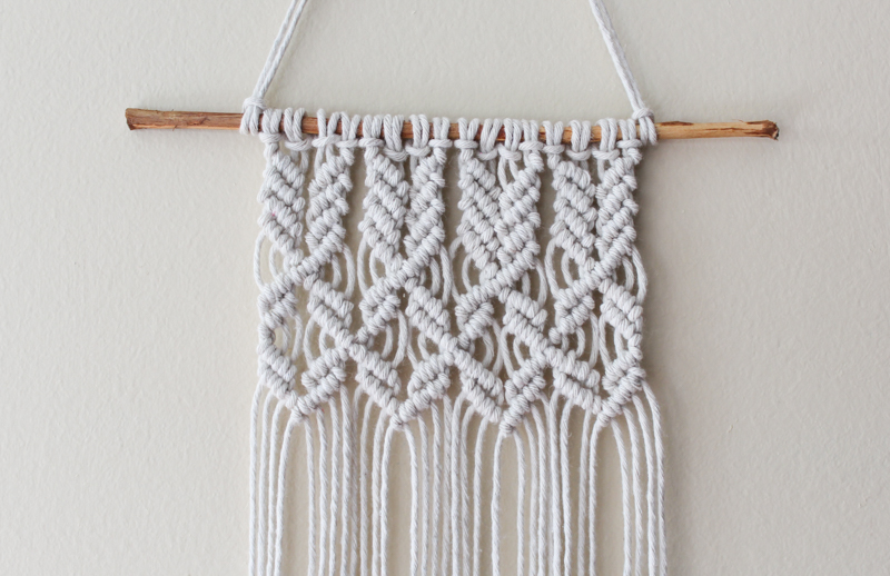 Macrame mini wall hanging