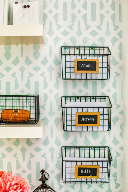 Mail action items basket organizers