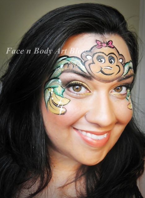 Monkey face painting idea