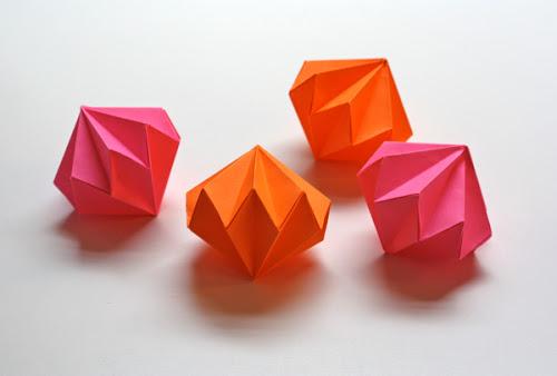 Origami paper gems