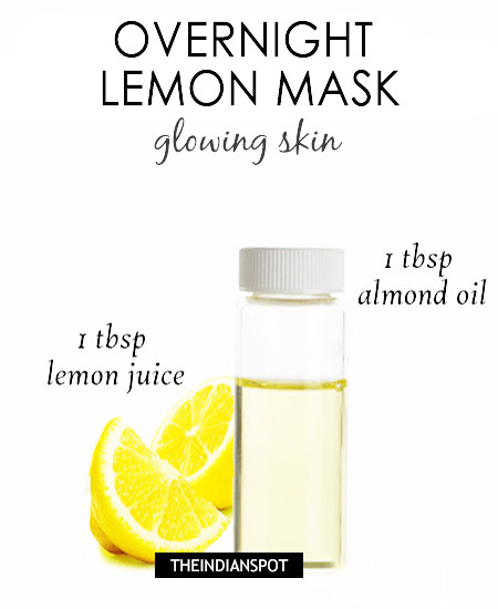 Overnight lemon mask diy