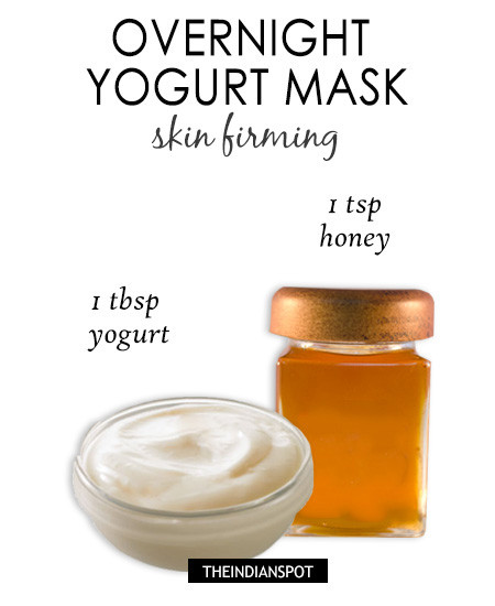 Overnight yogurt mask