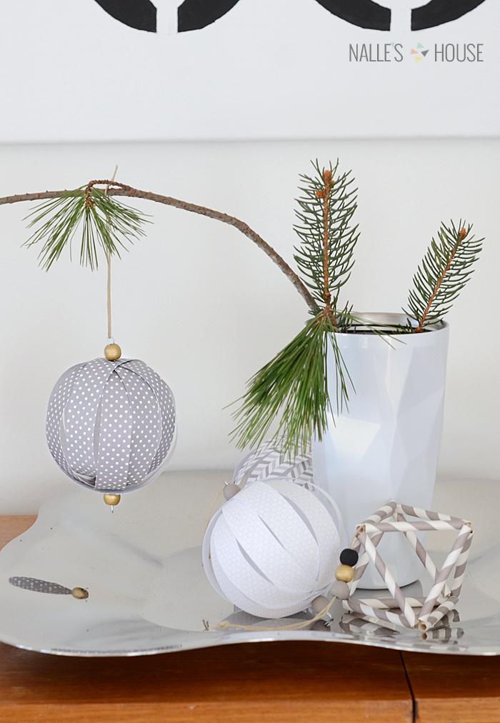 Paper ball ornament diy