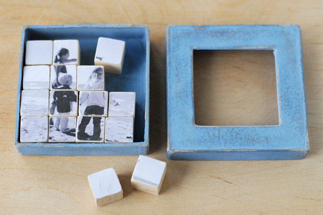 Photo cubes puzzle