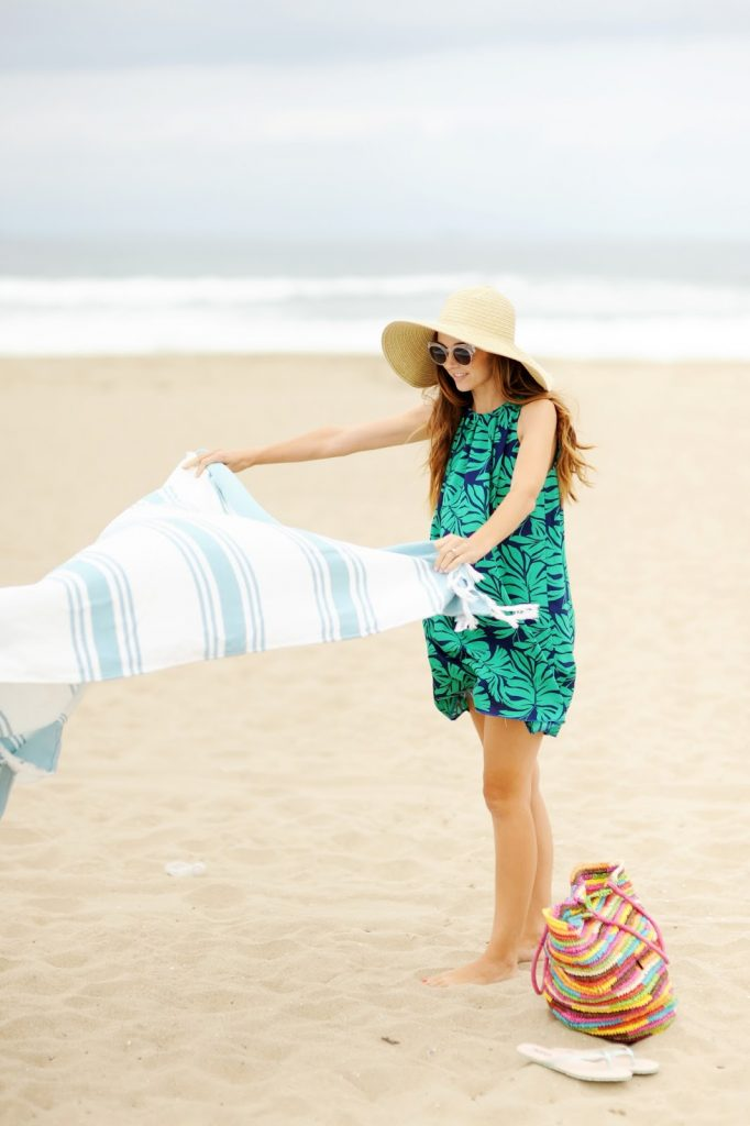 Pleated beach cover up