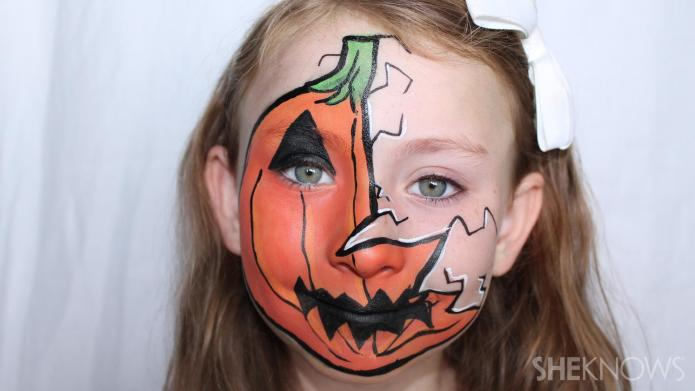 Pumpkin face paint diy