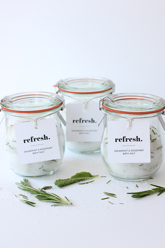 Refresh diy bath salts gift