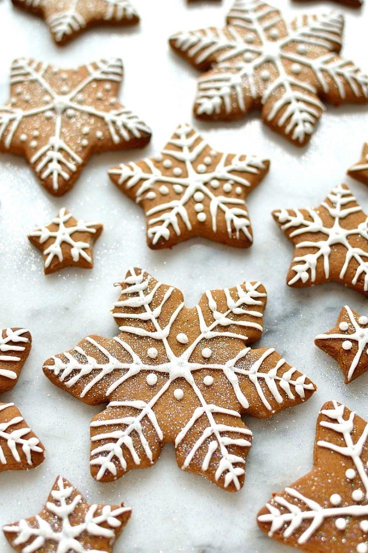 Royal icing gingerbread cookies