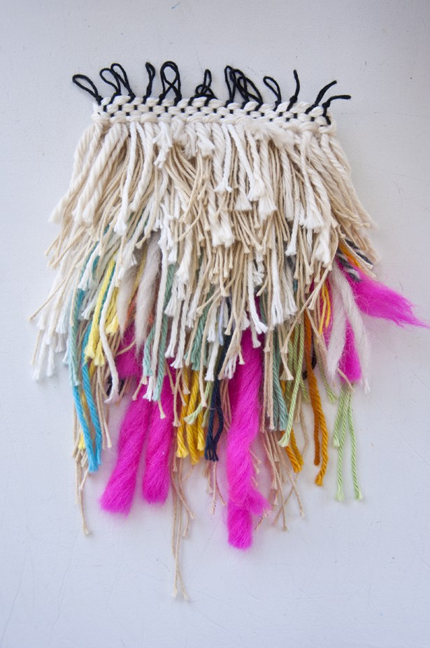 Shaggy weaving wall hanging