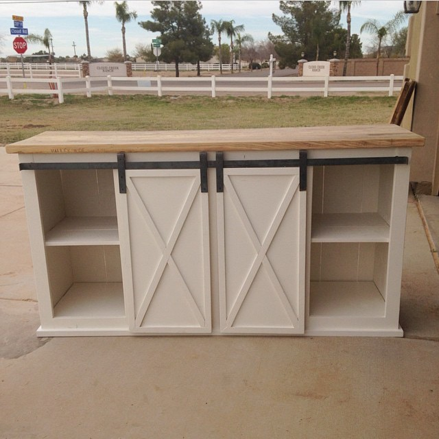 Sliding door console diy plans