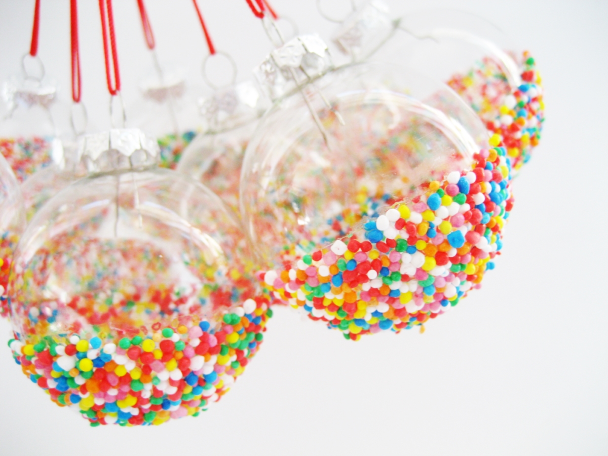 Sprinkles ornaments diy