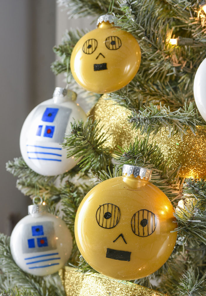 Star wars theme christmas ornaments
