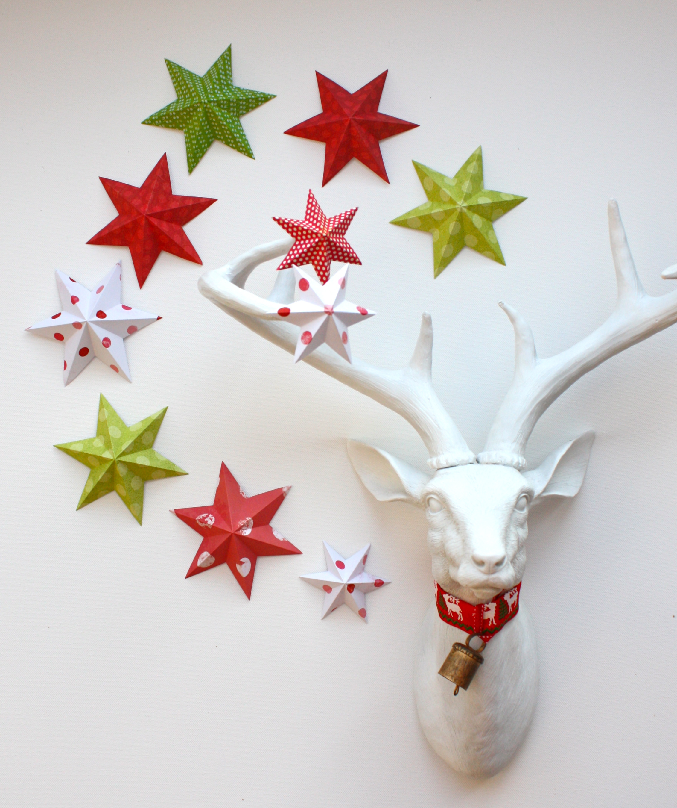 paper 6 point stars strastruck at christmas master - Paper Christmas Decorations To Make At Home