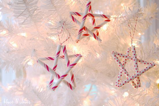 Straw star kids ornament