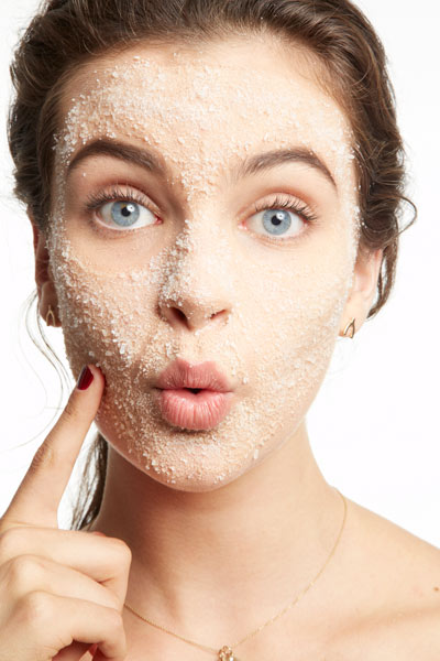 Wash your face for clear skin