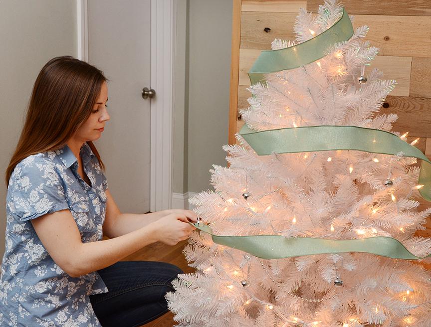 White christmas tree sage green 5
